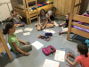 Naravoslovni tabor Peca - v jedilnici